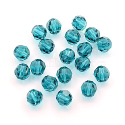 Austrian Crystal Beads, 8mm Faceted Round, LightSea Green, hole: 1mm(X-5000_8mm229)