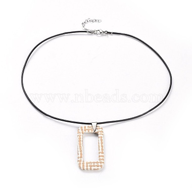 Bisque Leather Necklaces