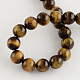Natural Tiger Eye Round Bead Strands(X-G-R200-8mm)-2