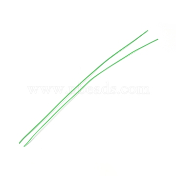 Plastic Wire Twist Ties, with Iron Core, Bread Candy Bag Ties, Green, 300x2x0.7mm(AJEW-WH0109-80A)