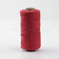 cordons de coton, rouge, 1.5~2 mm; sur 100 mètres / rouleau(YC-R007-02)