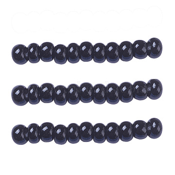 3mm Black Glass Beads
