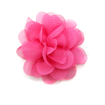 Lace Costume Accessories, Flower, Deep Pink, 50mm(X-OHAR-Q142-03)