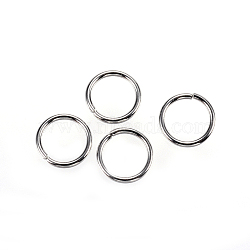 304 Stainless Steel Open Jump Rings, Stainless Steel Color, 8x0.9mm, about 6.2mm inner diameter(X-STAS-D448-099P-8mm)