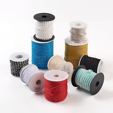 Cord, Mixed Material, Random Single Color or Random Mixed Color, 1~7mm, 2rolls/bag(OCOR-XCP0001-03)