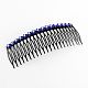 Trendy Women's Iron Hair Combs with Flower Rhinestones(OHAR-R175-06)-1