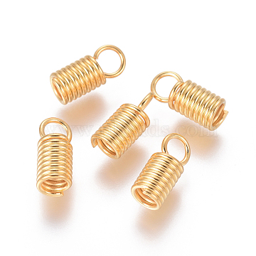 Golden Stainless Steel Coil Cord End