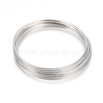 Steel Memory Wire,Bracelets Making,Nickel Free,Platinum,5.5cm,Wire : 18 Gauge,1.0mm,about 10circle/Set(X-MW5.5CM-1-NF)