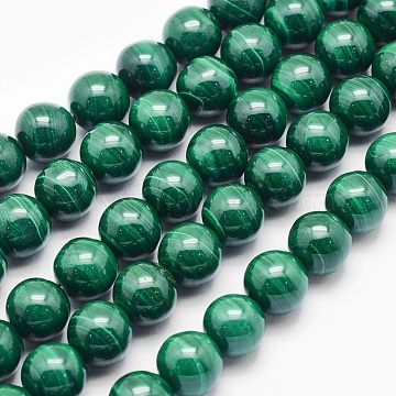 6mm Round Malachite Beads