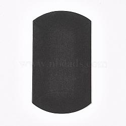 Kraft Paper Wedding Favor Gift Boxes, Pillow, Black, 6.5x9x2.5cm(CON-WH0037-A-10)