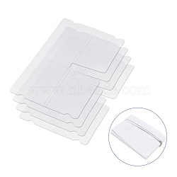 Portable Plastic Mouth Covers Storage Clip, for Disposable Mouth Cover, Clear, 19x11x0.03cm(AJEW-E034-69)