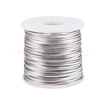 Aluminum Wire, Bendable Metal Craft Wire, Floral Wire for DIY Arts and Craft Projects, Gainsboro, 12 Gauge, 2mm, about 98.42 Feet(30m)/roll(AW-WH0001-2mm-02)