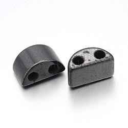 магнитные гематит синтетические нити бисер, два отверстия, полумесяц, черный, 13x6 mm, отверстия: 2 mm(IM13x6mm1161)
