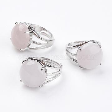 Pink Rose Quartz Finger Rings