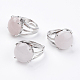 Adjustable Natural Rose Quartz Finger Rings(RJEW-F075-01O)-1