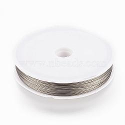 70 m / roll fil de queue de tigre, acier revêtu de nylon, lightgrey, 0.45 mm(TWIR-70R0.45MM-1)