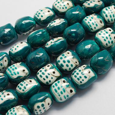 Perles en porcelaine manuelles(PORC-S447-06)-1