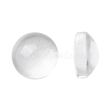 6mm Clear Half Round Glass Cabochons