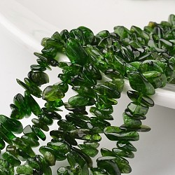 "Puce diopside naturel brins de perles, Grade A +, 10~13x5~7x2~3mm, trou: 1 mm; environ 15.7""(G-M349-03)"