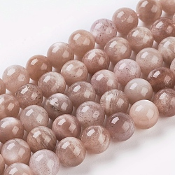 Natural Sunstone Beads Strands, Round, SandyBrown, 12mm, Hole: 1mm