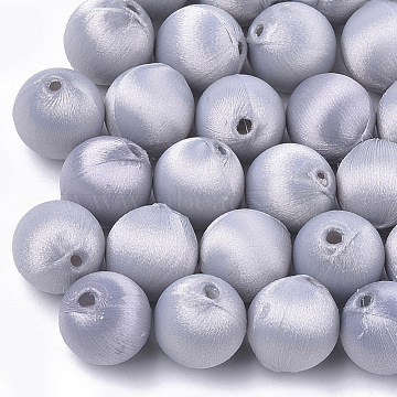 13mm LightGrey Round Polyester Beads