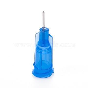 Plastic Fluid Precision Blunt Needle Dispense Tips, Dodger Blue, 7.5x24mm; Inner Diameter: 4mm; Pin: 0.7mm(TOOL-WH0117-17H)
