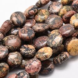 "Brins de perles de jaspe naturel en peau de léopard, 16x14x7mm, trou: 1mm; environ 25 pcs/chapelet, 15.74""(G-L291-13)"