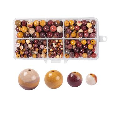 340Pcs 4 Sizes Natural Mookaite Beads, Round, 4~10mm, Hole: 1mm(G-LS0001-34)