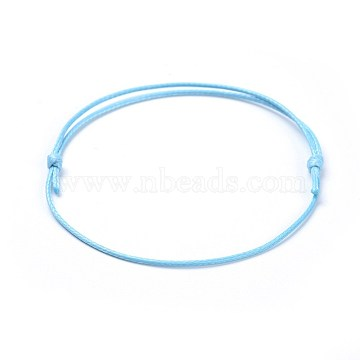 LightSkyBlue Waxed Polyester Cord Bracelet Making