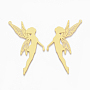 Golden Angel & Fairy Brass Big Pendants(KK-S353-021)