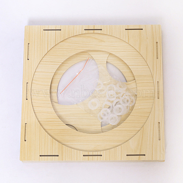 9 Holes Balloon Sizer Boxes, Wood Balloon Measurement Tool, for Birthday Party Wedding Party Decorations, BurlyWood, 29x29x1.62cm(TOOL-WH0080-75)