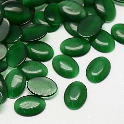 кабошоны кошачьего глаза, овальный, зеленый, 40x30x6.5 mm(X-CE-J005-30x40mm-31)