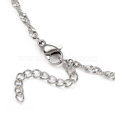 304 Stainless Steel Singapore Chain Necklaces(NJEW-JN02930-04)-3