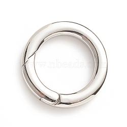 304 Stainless Steel Spring Gate Rings, O Rings, Stainless Steel Color, 6 Gauge, 25.5x4mm; Inner Diameter: 17.5mm(STAS-I133-14C)