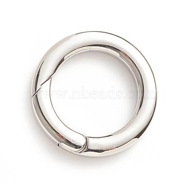304 bagues à ressort en acier inoxydable, o bagues, couleur inox, Jauge 6, 25.5x4 mm; diamètre intérieur: 17.5 mm(STAS-I133-14C)