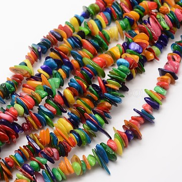 7mm Colorful Chip Freshwater Shell Beads