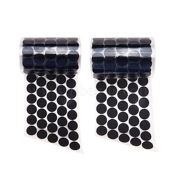 Nylon Magic Tapes, Adhesive Hook and Loop Tapes, Round, Black, 20mm, 1set including 1pc Hook Side and 1pc Loop Side.(X-FIND-WH0001-03A)