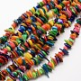 7mm Colorful Chip Freshwater Shell Beads(X-SHEL-E355-16)