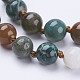 Natural Indian Agate Beaded Necklaces(NJEW-P202-36-A34)-2
