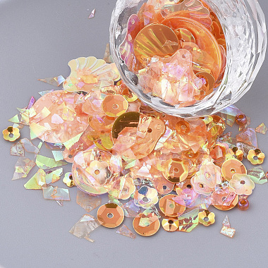 Orange Plastic Beads