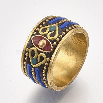 Blue Brass Finger Rings