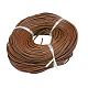 4mm SaddleBrown Color Cowhide Leather Beading Cords(X-WL-A003-12)-1