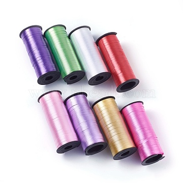 Defective Products(The spool is broken), Balloons Ribbons, For Party Decoration, Mixed Color, 3/16inches(5mm)x0.1mm; about 100yards/roll(91.44m/roll)(SRIB-WH0002)