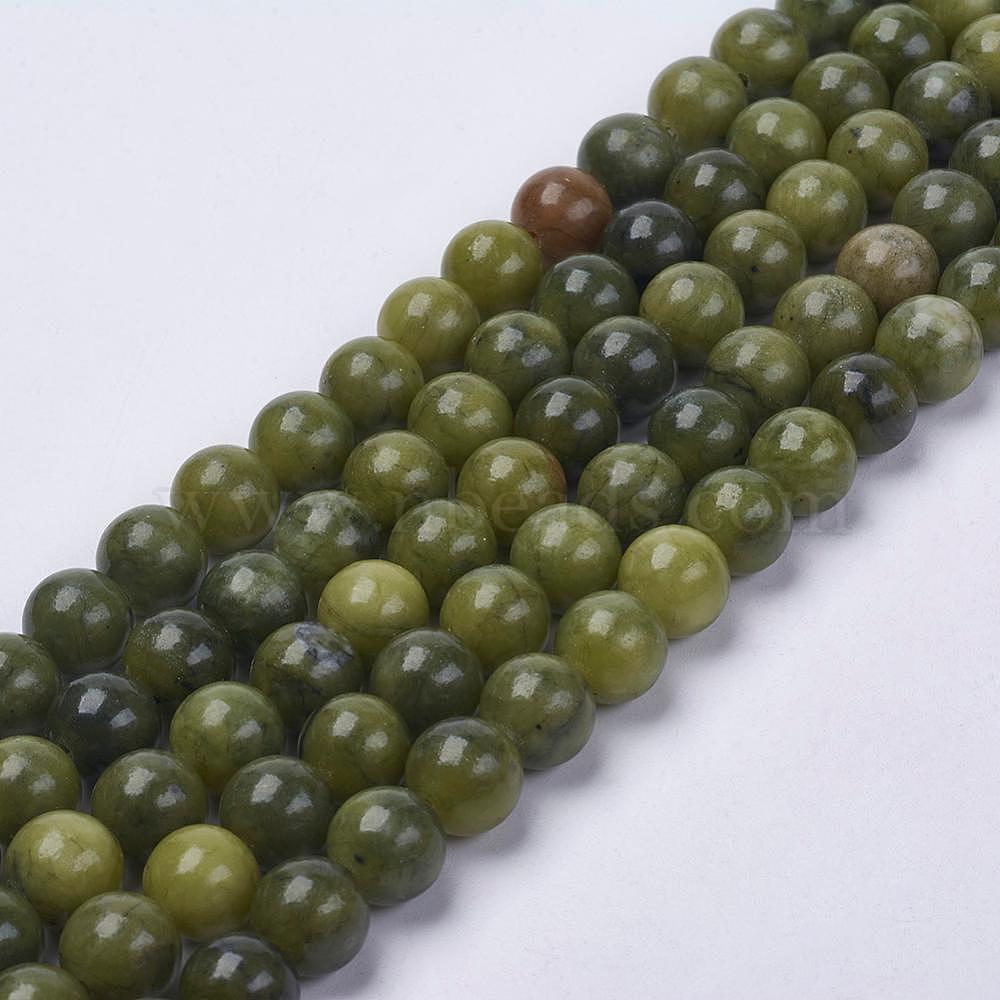 Jade 8mm Natural Gemstone Beads 16