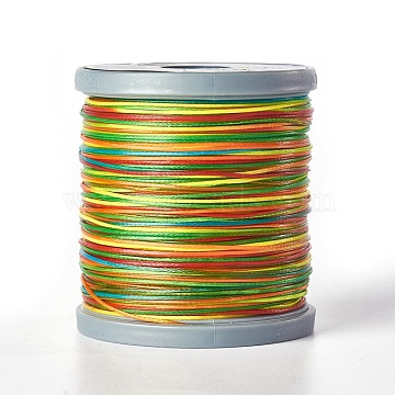 Waxed Polyester Cord, Flat, Colorful, 0.8x0.2mm; 150m/Roll(YC-E002-0.8mm-B831)