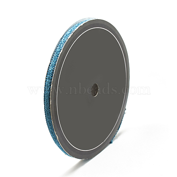 Braided Nylon Ribbons, DeepSkyBlue, 3/8inch(10mm); about 15yards/roll(13.716m/roll)(OCOR-N003-04A)
