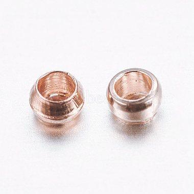 Brass Crimp Beads(X-KK-E002-RG)-2