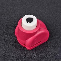 Kits de perforateurs en plastique multicolores de couleur aléatoire ou de couleurs mélangées aléatoires pour scrapbooking & artisanat en papier, shapers de papier, fraise, couleur aléatoire simple ou couleur mélangée aléatoire, 33x26x32mm(AJEW-L051-16)