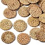 BurlyWood Flat Round Rattan Beads(WOVE-S119-22)