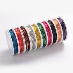fil de bijoux de cuivre, sans plomb et sans cadmium et sans nickel, couleur mélangée, Jauge 18, 1 mm; 2.5 m / rouleau(CWIR-CW1mm)
